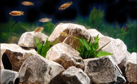 Zware gestapelde stenen